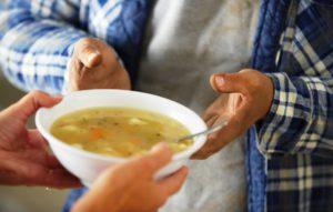 Distribution de soupe